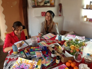 Young artists at work in the Studio
