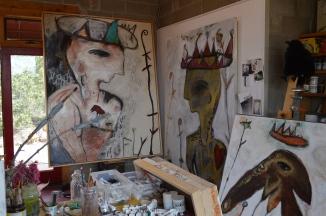 Josie Adam's studio